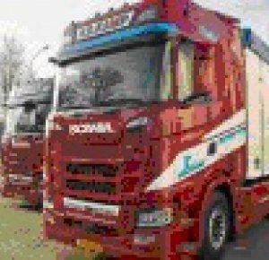 Na lange tijd weer Scania's in het wagenpark van  Van de Kamp.