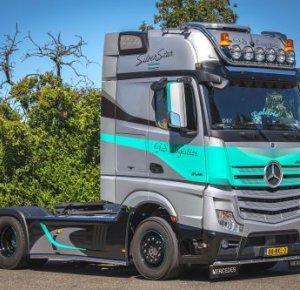 Actros SilverStar Edition steelt de show bij GS Logistics uit Werkhoven.