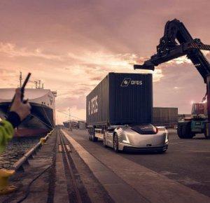 Volvo Trucks' zelfrijdende en elektrische transportoplossing Vera ingezet in logistiek proces.
