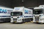 """DAS koerier koopt vier nieuwe Scania's: """"Wij rijden graag met het nieuwste model""""."""