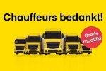 Actie!!! GRATIS avondmaaltijd voor vrachtwagenchauffeurs in heel Nederland.